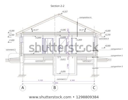 Plan pequeño casa construcción resumen tecnología Foto stock © shawlinmohd