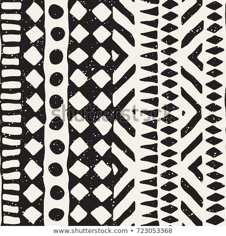 vettore · senza · soluzione · di · continuità · abstract · bianco · nero · tribali · pattern - foto d'archivio © lissantee