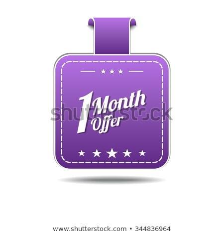 1 месяц предлагать фиолетовый вектора икона дизайна Сток-фото © rizwanali3d