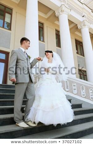 neu · Ehepaar · Porträt · Hand · Residenz · Leiter - stock foto © Paha_L