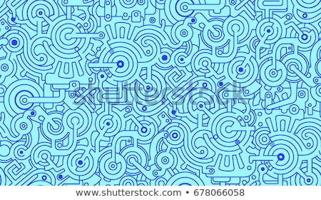 mechanical engineering concept with doodle design style stock photo © davidarts