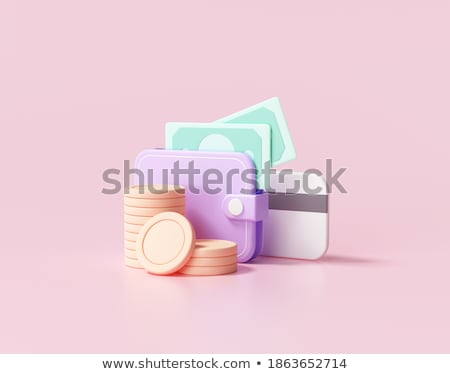 stacked coins in wallet stock photo © andreypopov