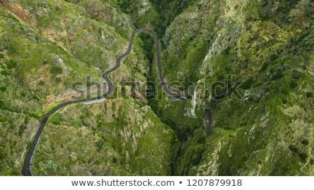 high mountains on madeira above paul do Mar Stock photo © compuinfoto