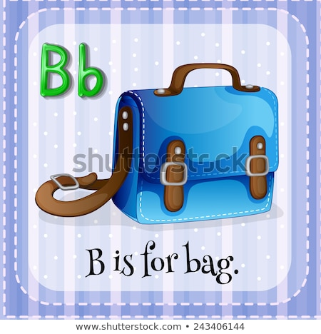 Flashcard letter B is for bag Stock photo © bluering