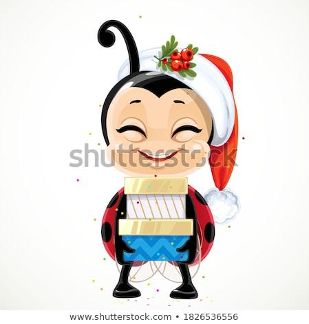 funny ladybug at Christmas Stock photo © adrenalina