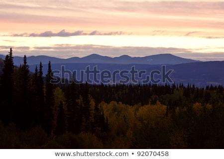 Sun setting along Coast Mountains of British Columbia Stock photo © pictureguy