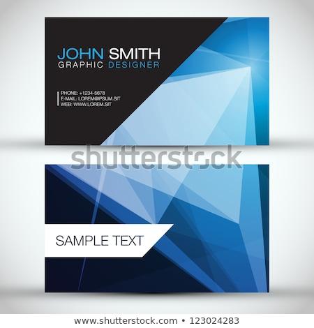 элегантный синий визитной карточкой линия шаблон минимальный Сток-фото © SArts