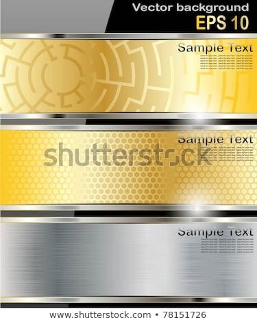 дизайна желтый волна печать Сток-фото © SArts
