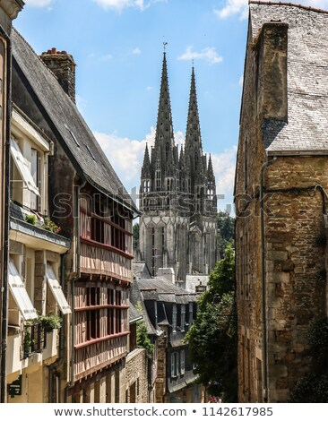 quimper cathedral in Brittany Stock photo © prill