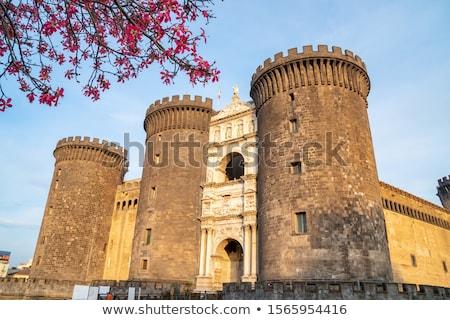 castello · Italia · view · medievale · sole · Napoli - foto d'archivio © photooiasson
