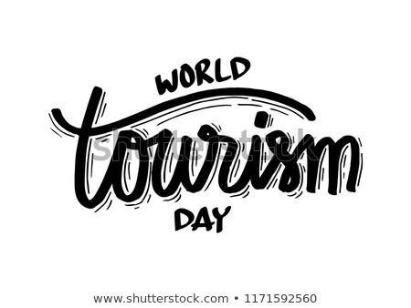 Biglietto d'auguri mondo turismo giorno viaggio scelta Foto d'archivio © Olena