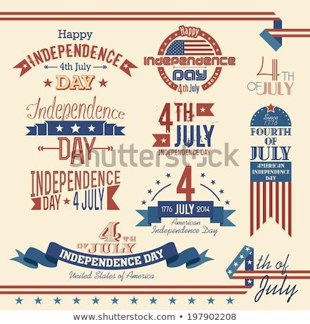 Szczęśliwy dzień star naszywka banderą Zdjęcia stock © orensila