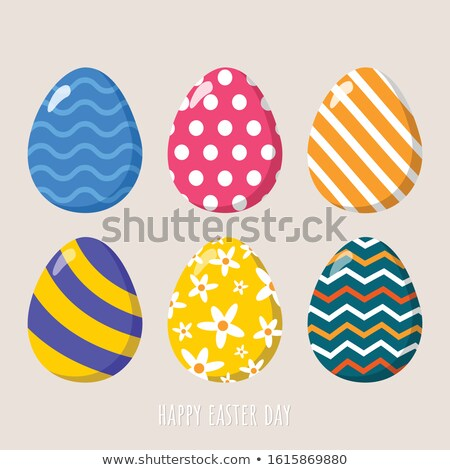 easter eggs with amusing decoration Stock photo © IS2