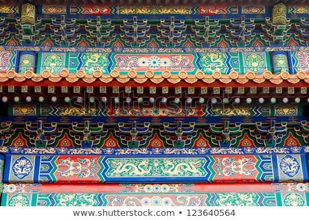 Tető részlet tiltott város Peking Kína Stock fotó © devon