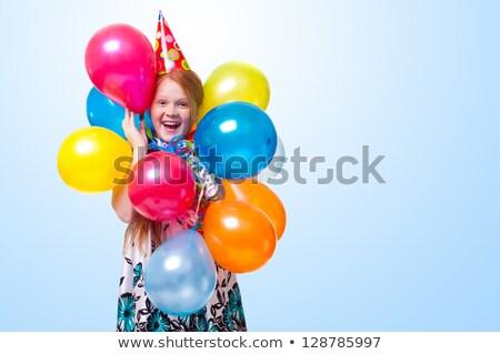 небольшой · мальчика · вечеринка · Hat · смеясь · стороны - Сток-фото © deandrobot