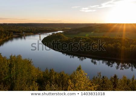 Ponte norte saskatchewan rio cidade paisagem Foto stock © benkrut