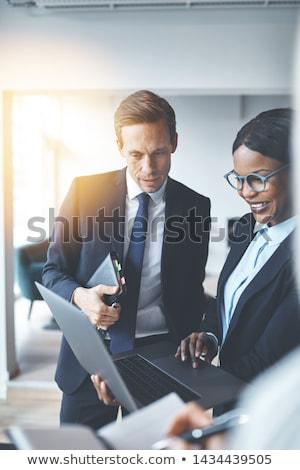 бизнесмен служба коллеги бизнеса заседание рабочих Сток-фото © IS2