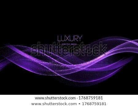 shining purple smooth lines Stock photo © zven0