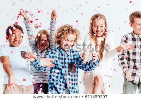 Felice ragazzi party illustrazione ragazza scuola Foto d'archivio © bluering