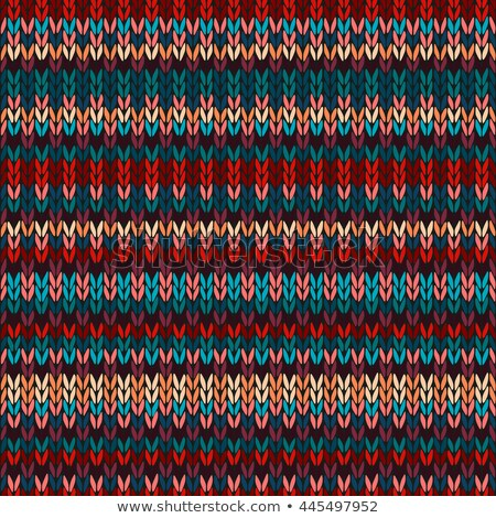 red seamless ethnic geometric knitted pattern stock photo © essl