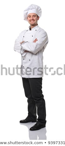 Chef in white uniform standing  Stock photo © bluering
