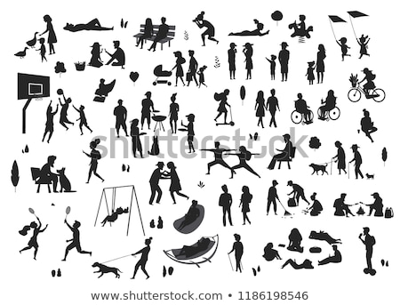 Old Man Riding Hoverboard, Bicycle Vector. City Outdoor Sport Activity. Gyro Scooter, Bike. Eco Frie Stock photo © pikepicture