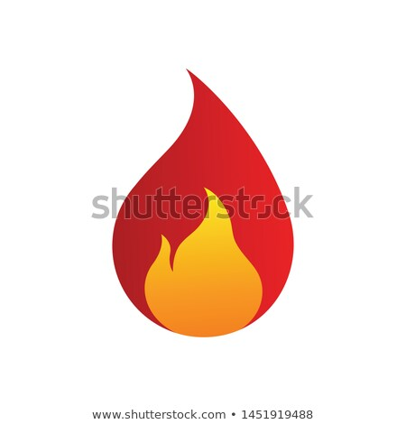 Red Letter S Shaped Fire Icon Vector Illustration Stock photo © cidepix