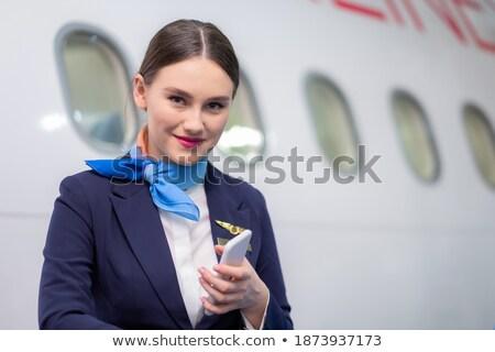 Kabin mavi ayarlamak kadın tatil stres Stok fotoğraf © toyotoyo