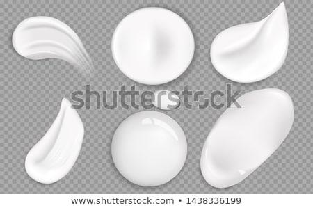 slagroom · icon · zuivelfabriek · ingesteld · vanille - stockfoto © robuart