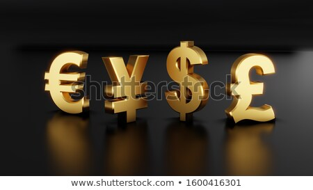 Stok fotoğraf: Altın · euro · para · imzalamak · kırmızı · mıknatıs