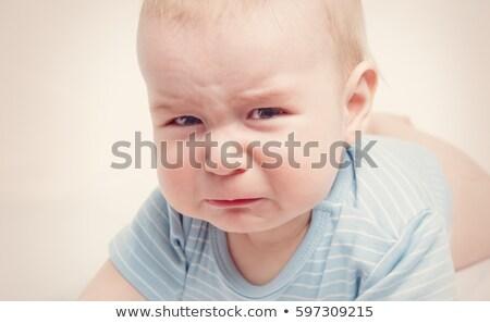 悲しい 赤ちゃん 泣く ベッド 2 子 ストックフォト © Lopolo