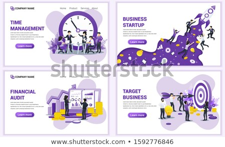 People Analyst and Manager Start Up Poster Vector Stock photo © robuart