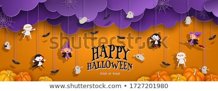 Vampiro banner ilustración Cartoon Foto stock © cthoman