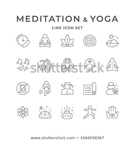 Stock photo: stones meditation zen icon vector