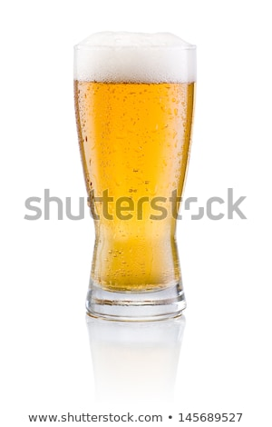 Beer and Tasty Ale with Foam Poured into Goblets Stock photo © robuart