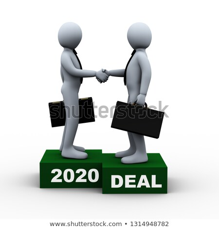 3D zakenlieden jaar groot deal 3d illustration Stockfoto © ribah