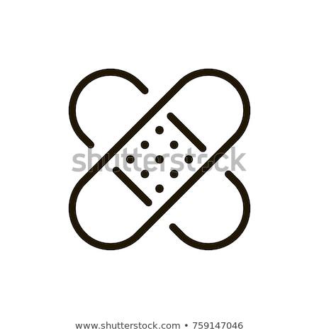 banda · auxiliar · ícone · branco · saúde · fundo - foto stock © imaagio