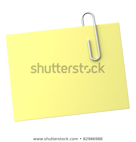 黄色 注記 クリップ 3D レンダリング 実例 ストックフォト © djmilic