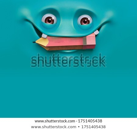 Set of cute kind smiling animated monsters isolated on white background. Vector cartoon close-up ill Stock photo © Lady-Luck