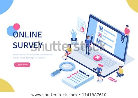 Online badanie Internetu kwestionariusz formularza obrotu Zdjęcia stock © RAStudio