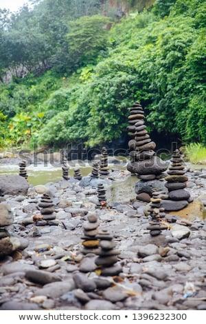 Zen камней водопада Бали Индонезия Сток-фото © boggy