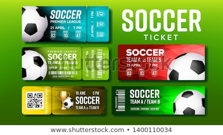 Stylish Tickets For Visit Soccer Match Set Vector Stock photo © pikepicture
