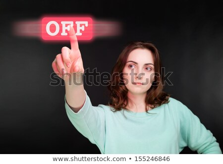 Finger push on the butto Stock photo © Genestro