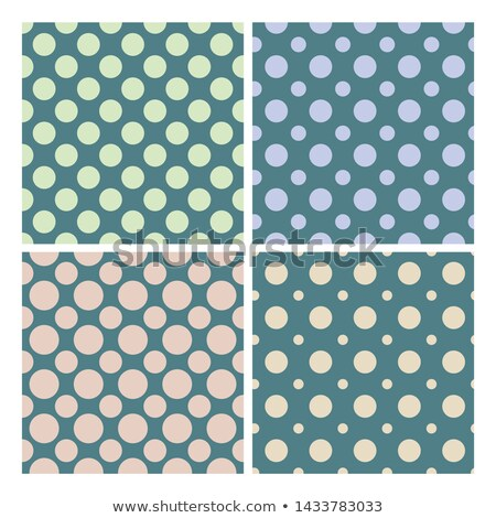 Vintage 1950 Polka Dot Set Seamless Pattern Vector Stock photo © pikepicture