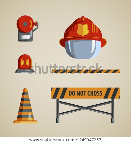 Firefighter icons collage Stock photo © netkov1