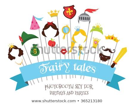 Princess strony dekoracje zestaw wektora Zdjęcia stock © robuart