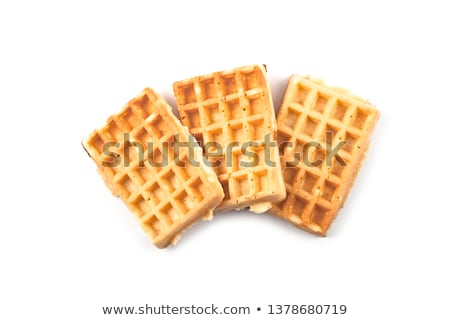 Belgium waffers isolated on white background. Stock photo © marylooo