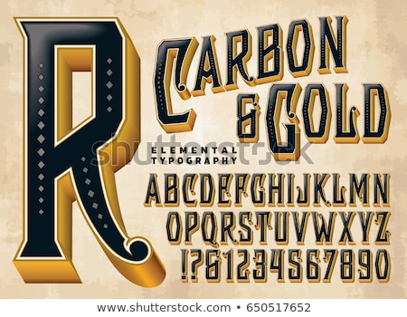 Nero inciso carattere lettera d 3D rendering 3d Foto d'archivio © djmilic