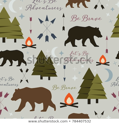 Camping Seamless Pattern Stock photo © Anna_leni