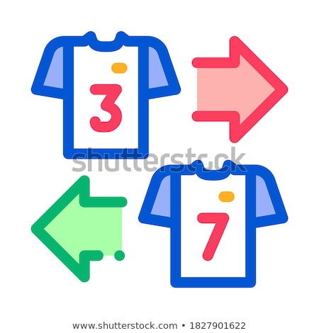 Teams T-shirt Exchange Icon Outline Illustration Stock photo © pikepicture